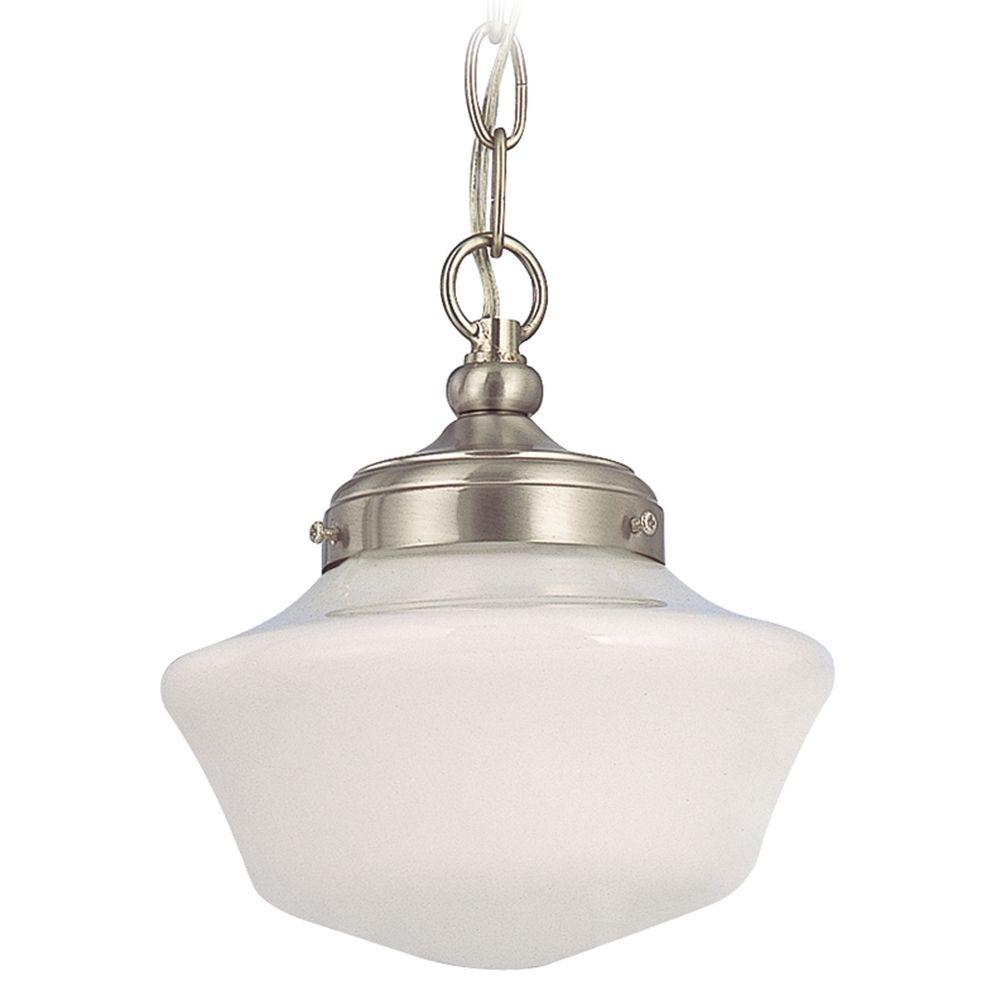 8 inch schoolhouse mini pendant light with chain
