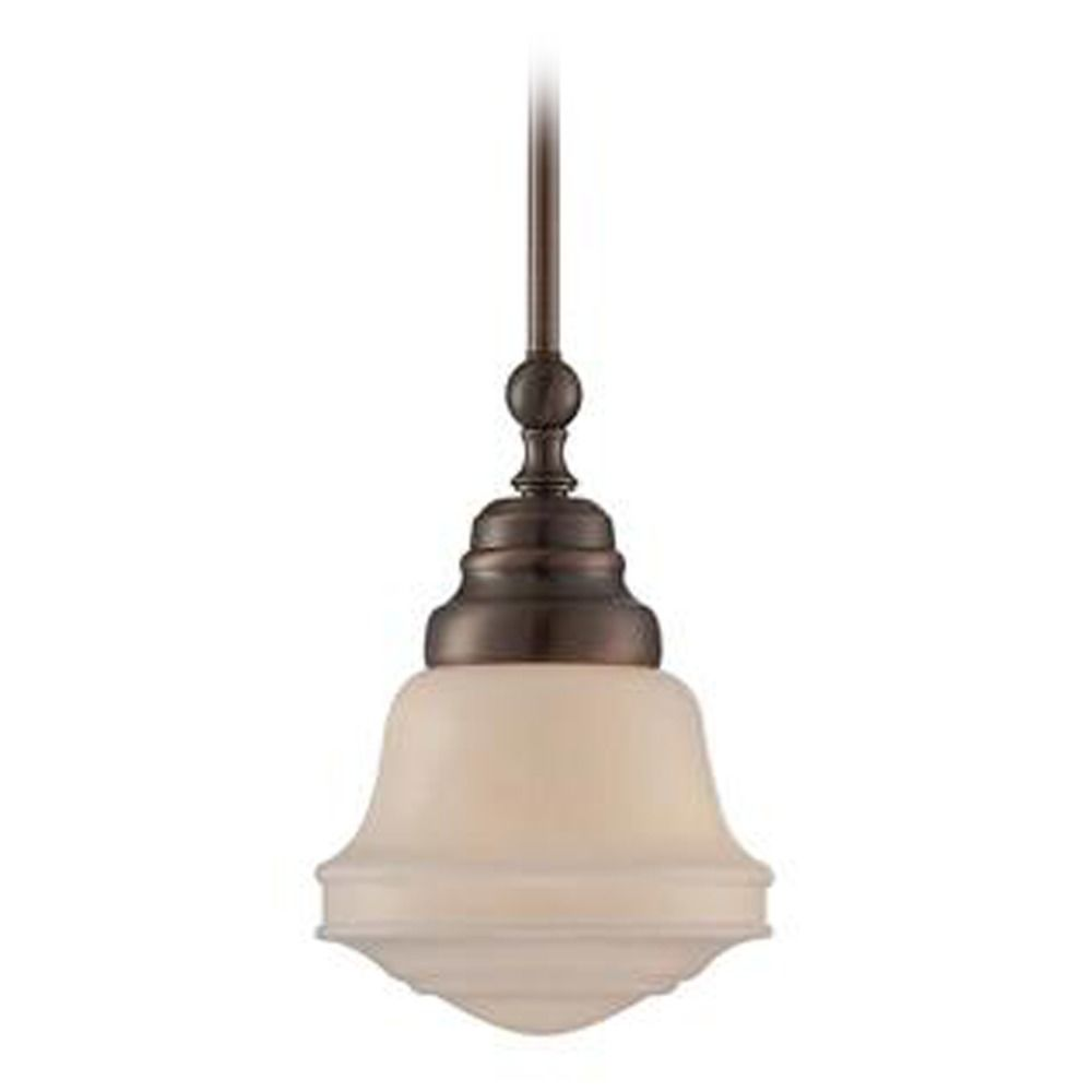 Lite Source Towne Antique Copper Mini Pendant Light With Bowl Dome Shade At Destination Lighting