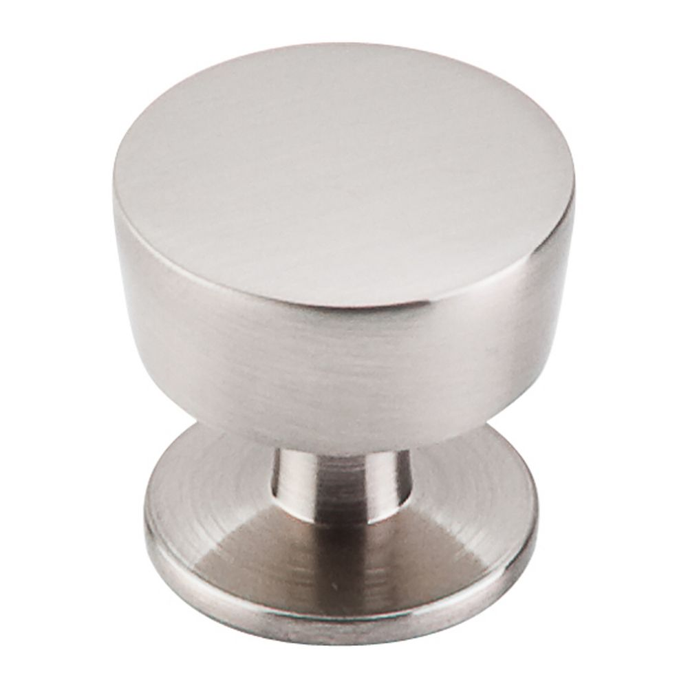 Modern cabinet knob in brushed satin nickel finish m1122 for Contemporary cabinet hardware pulls
