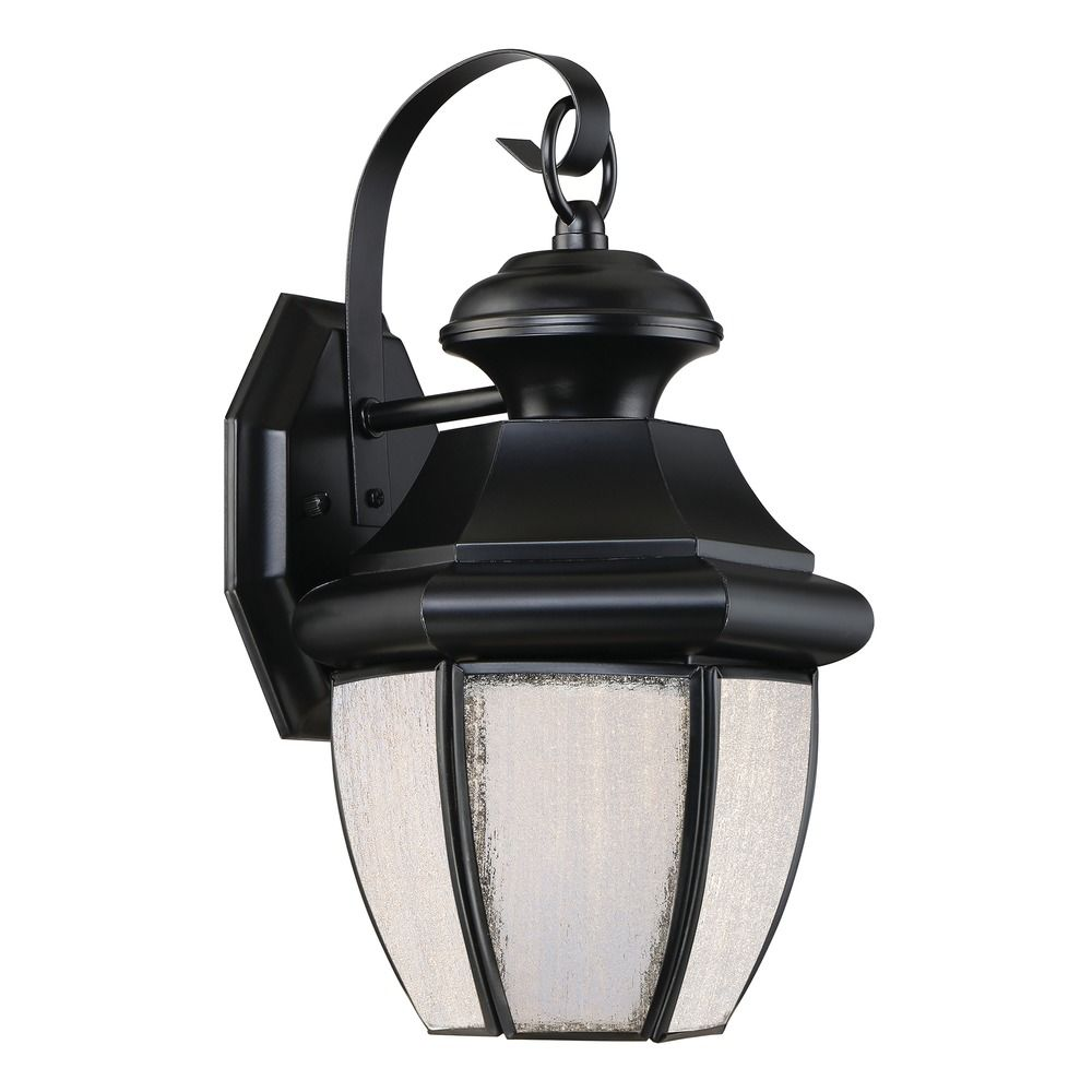 Quoizel Lighting Newbury LED Mystic Black Outdoor Wall Light NYL8407K Des
