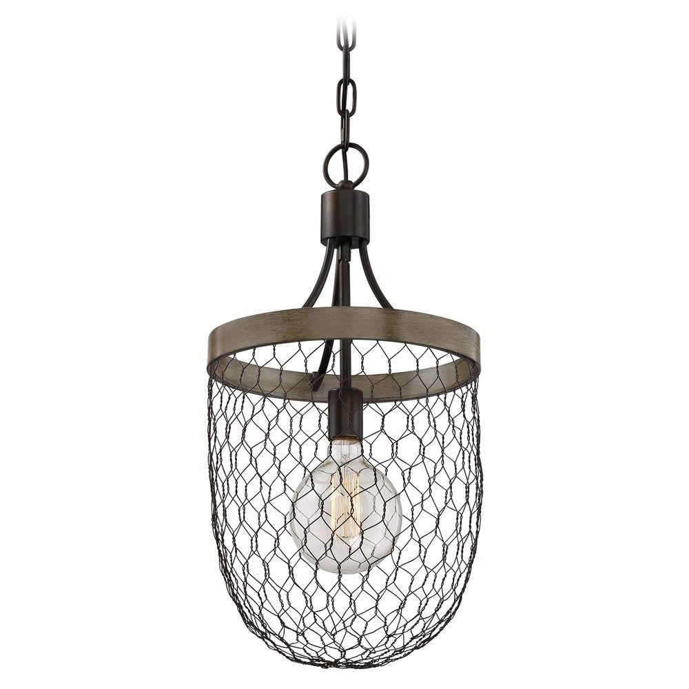 Farmhouse Light Chicken Wire Pendant Light by Quoizel Lighting ...