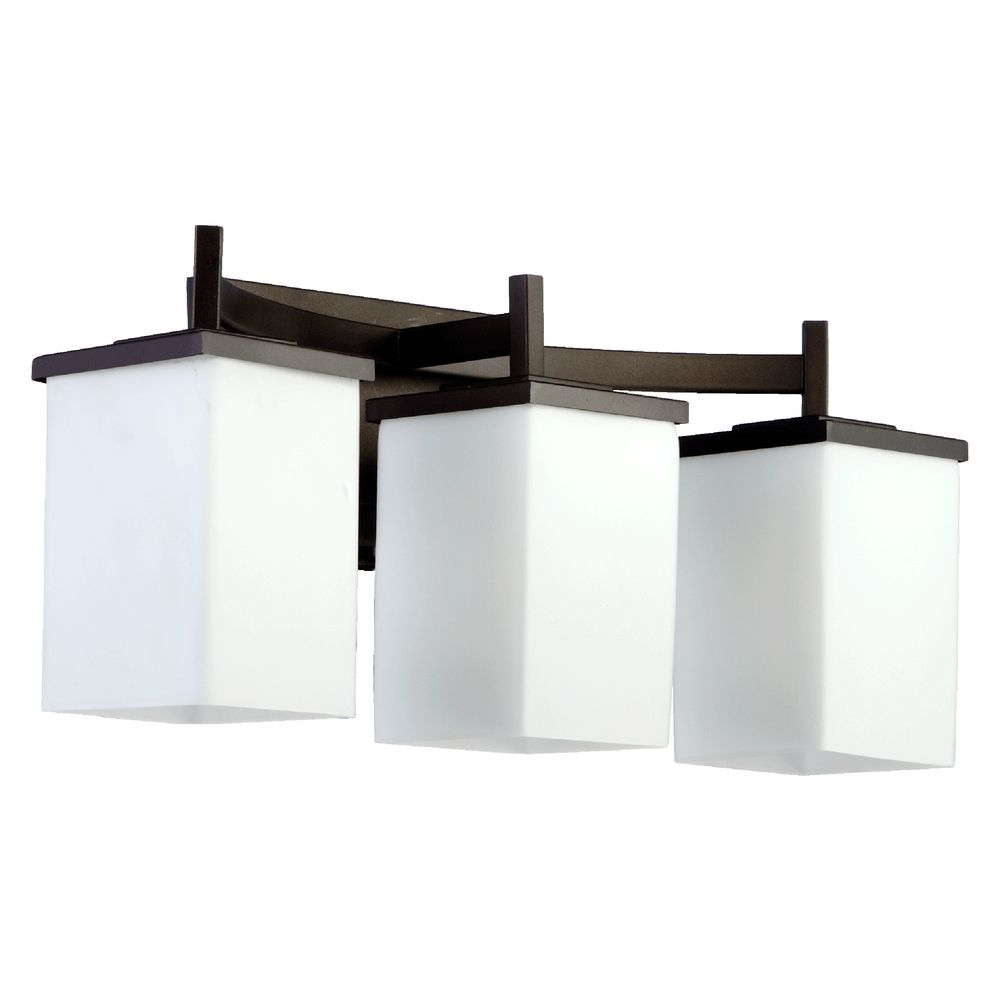 Modern Bathroom Light Oiled Bronze Delta By Quorum Lighting 5084 3 86 Destination Lighting
