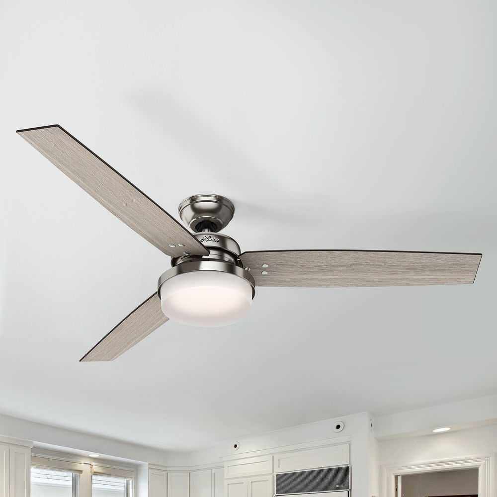 60 Inch Brushed Nickel Led Ceiling Fan