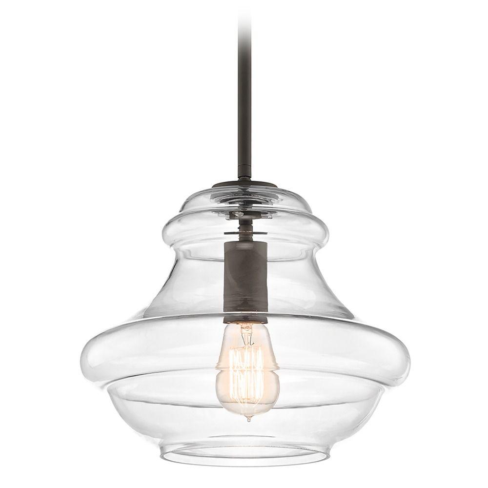 Kichler Lighting Lights: Kichler Everly Olde Bronze Pendant Light With Clear Glass