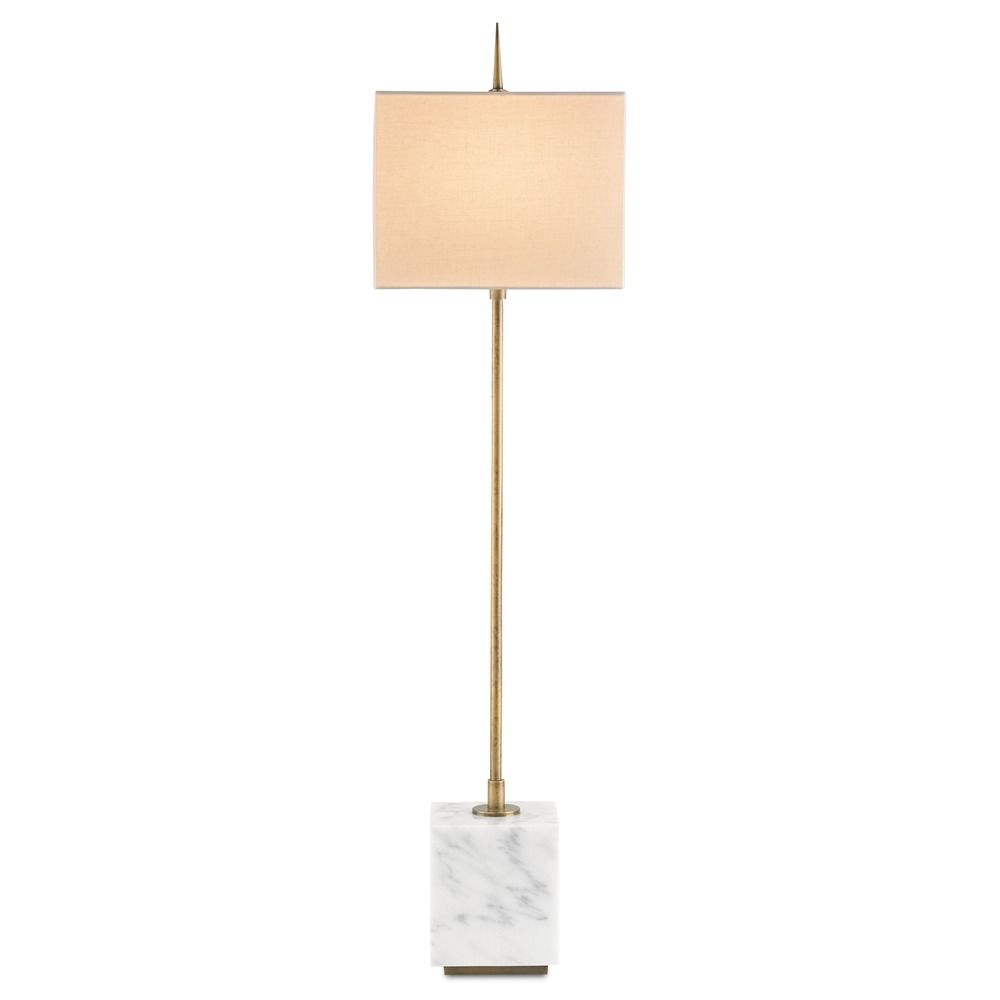 Currey And Company Buffet Lamps: Currey And Company Lighting Thompson Brass / White Console