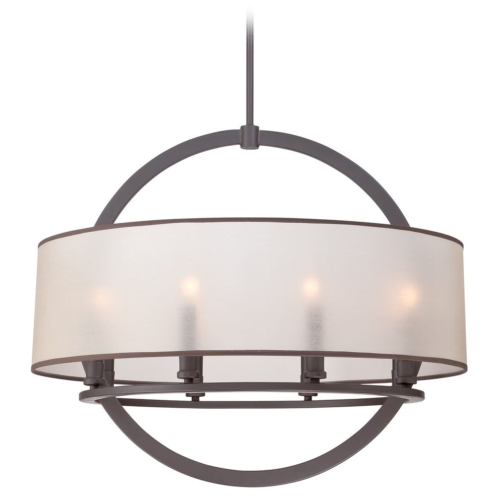 Shop Quoizel Valentina 15-in Brushed Nickel Crystal Multi ... |Quoizel Pendant Lighting