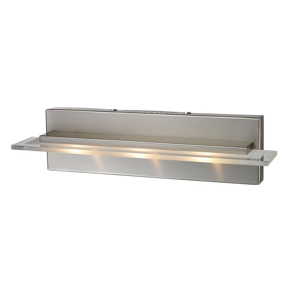 Modern Led Bathroom Light In Satin Nickel Finish 81072 3 Destination Lighting