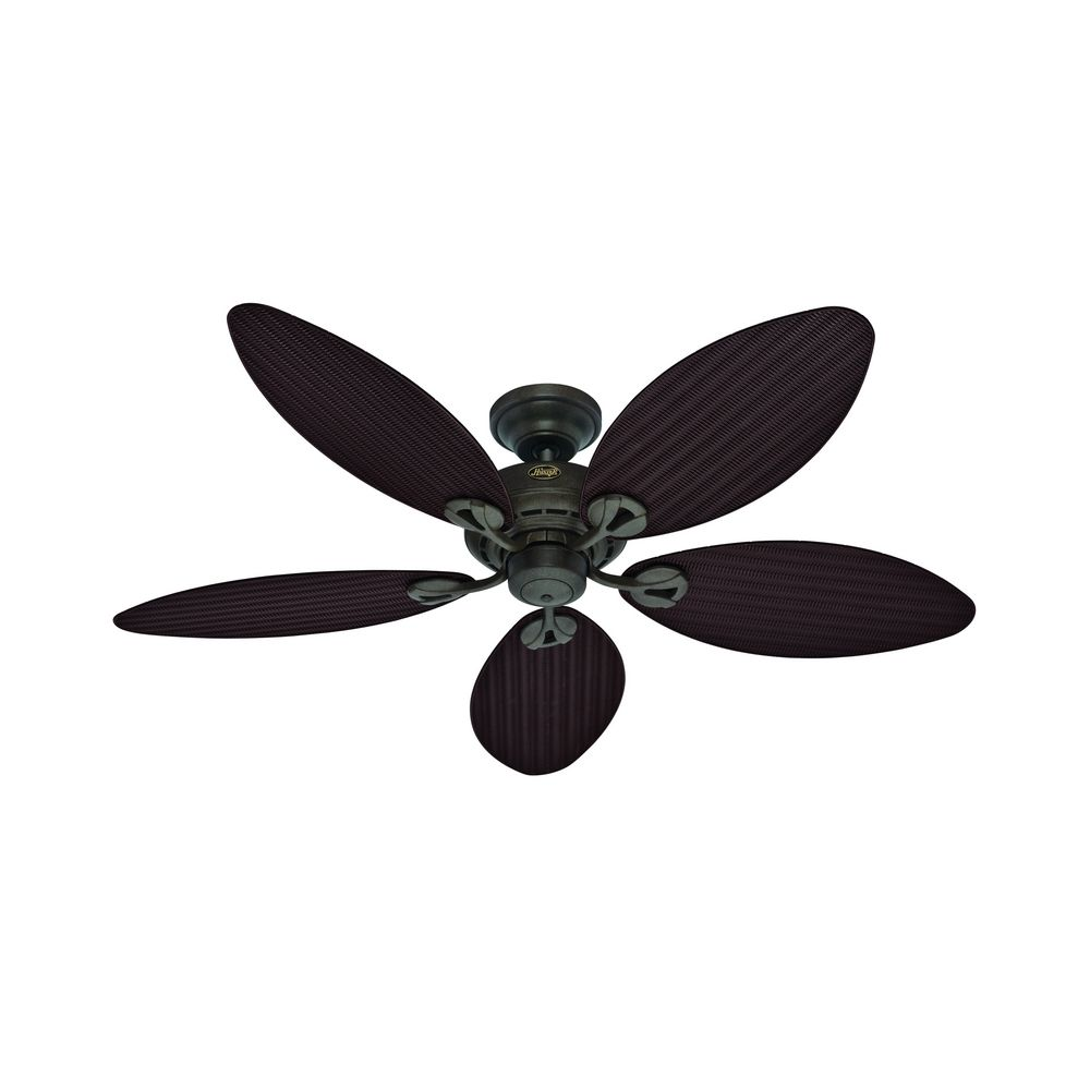 ... Ceiling Fan Without Light 54098. Hover or Click to Zoom - Hunter Fan Company Bayview Provencal Gold Ceiling Fan Without