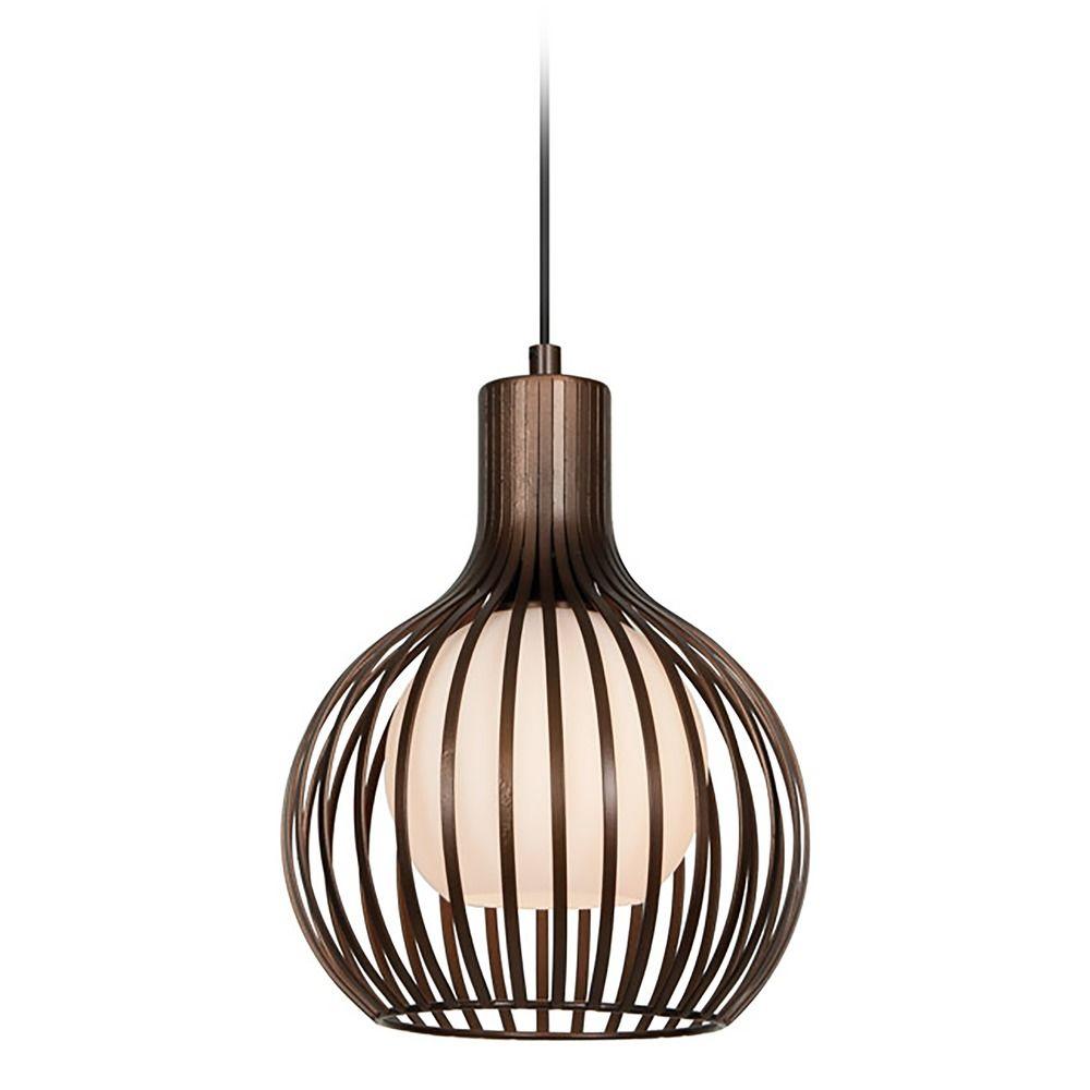 Access Lighting Chuki Bronze Mini-Pendant Light with Globe ...