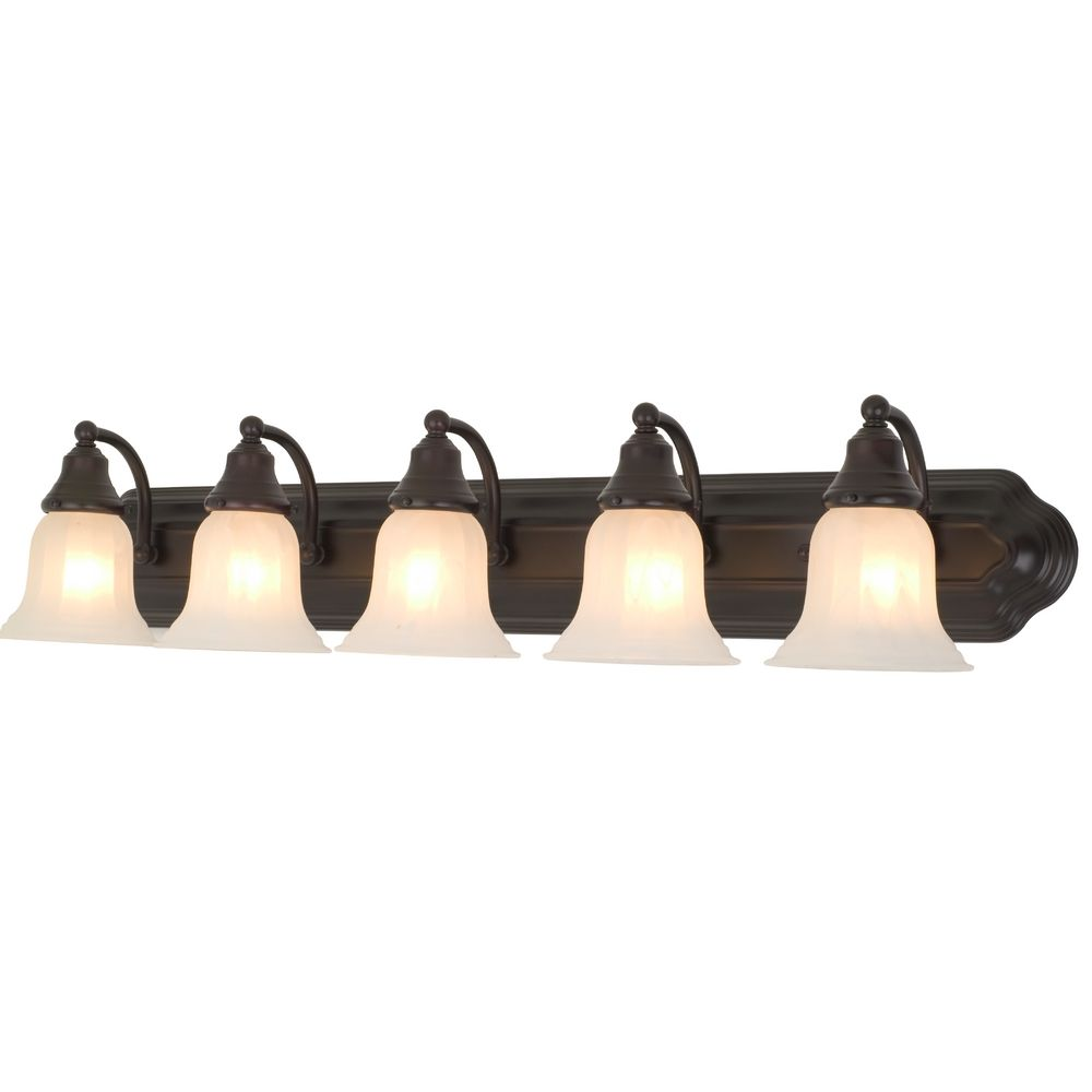 5 Light Bathroom Vanity Light: Five-Light Bathroom Vanity Light