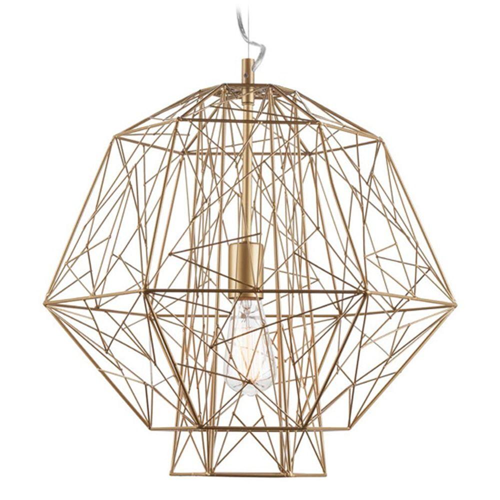 nuevo lighting zeus gold cage pendant light hgvf404 destination