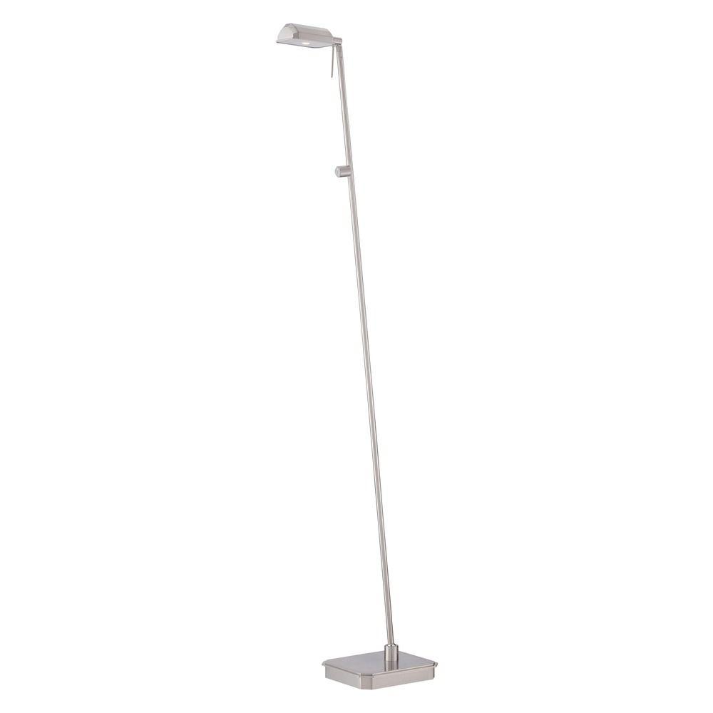 George Kovacs Brushed Nickel Led Floor Lamp With Rectangle