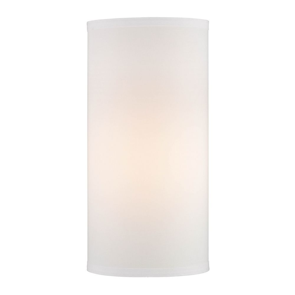 16 Inch Tall White Linen Uno Lamp Shade