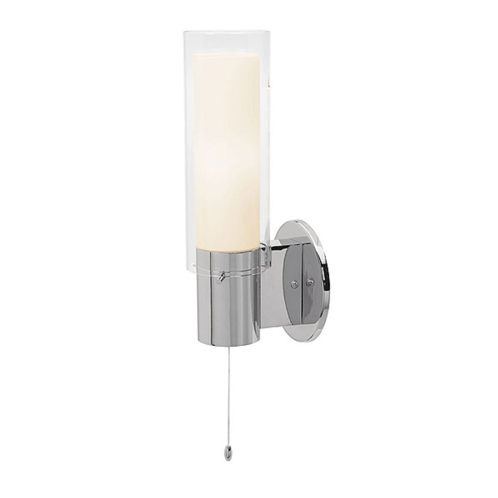Bathroom Sconces With Switch lighting cylindrical wall sconce with on off switch 50562 bs opl