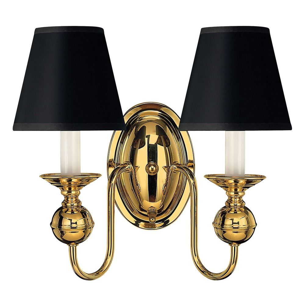 Wall Lights Polished Brass : Sconce Wall Light in Polished Brass Finish 5124PB Destination Lighting