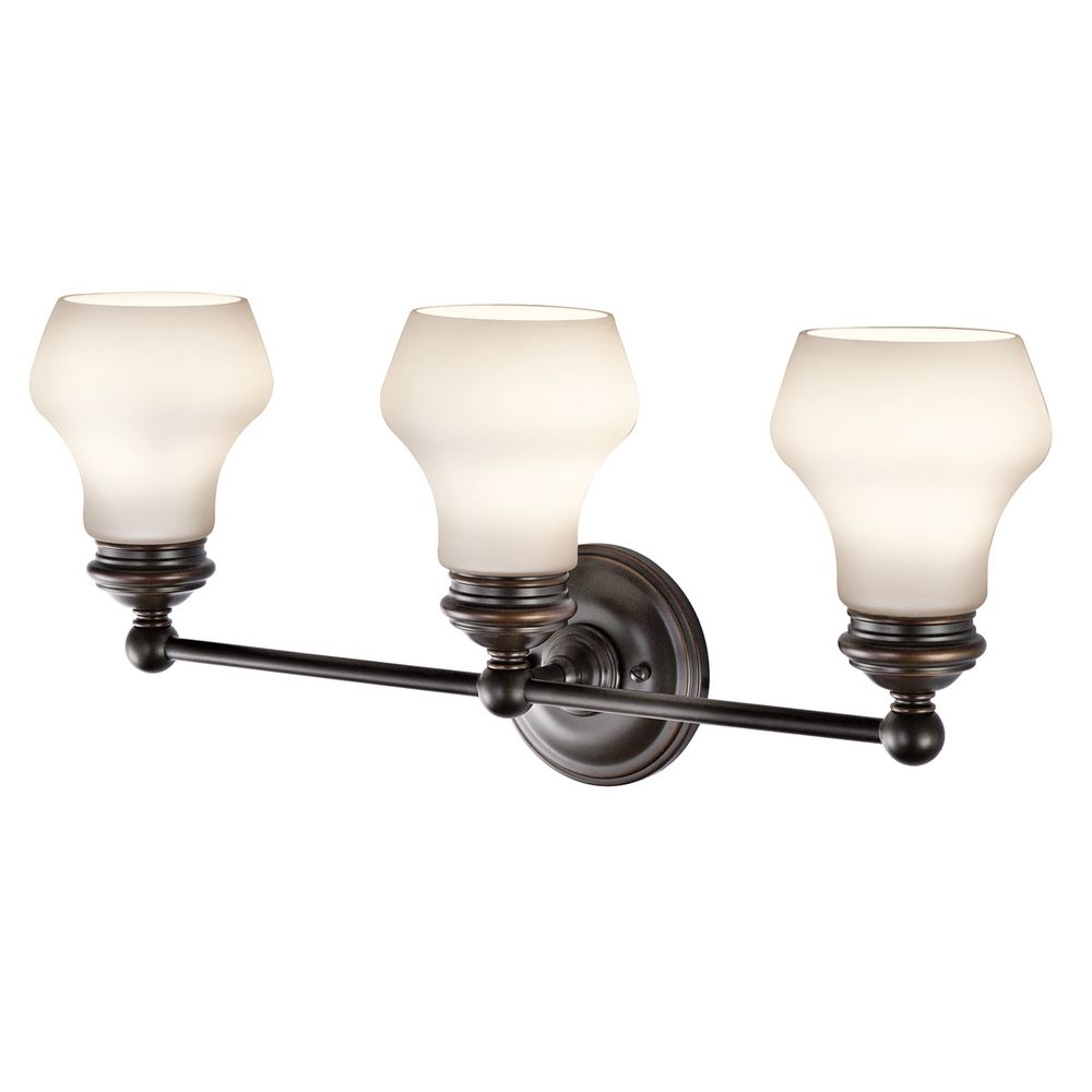 Bathroom Light Fixtures Oil Rubbed Bronze kichler lighting currituck oil rubbed bronze bathroom light