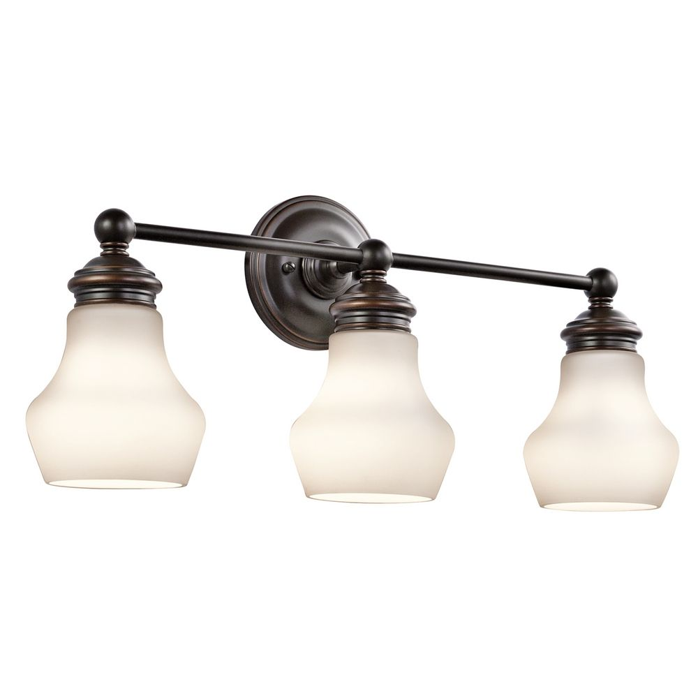 Kichler Lighting Currituck Oil Rubbed Bronze Bathroom Light ...