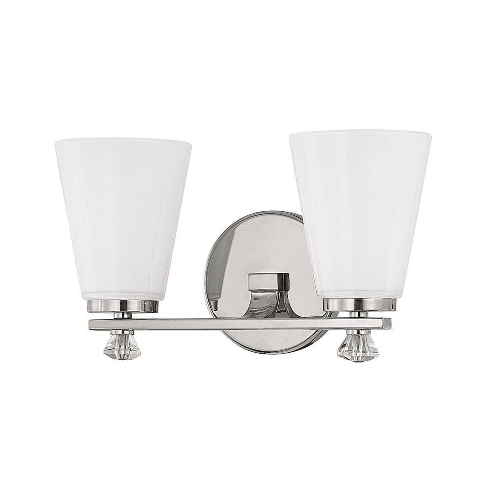 Alisa Polished Nickel Bathroom Light
