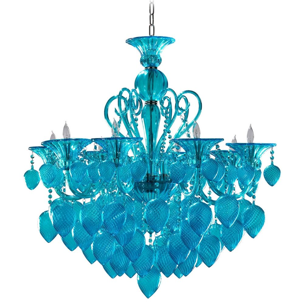 Cyan Design Bella Vetro Chandelier Purple