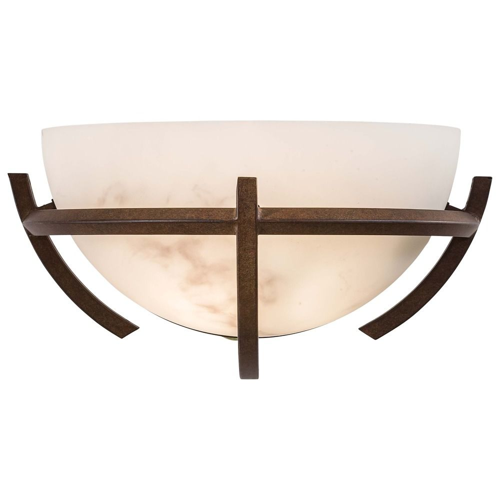 Modern Sconce Wall Light with Alabaster Glass in Nutmeg Finish 680-14 Destination Lighting