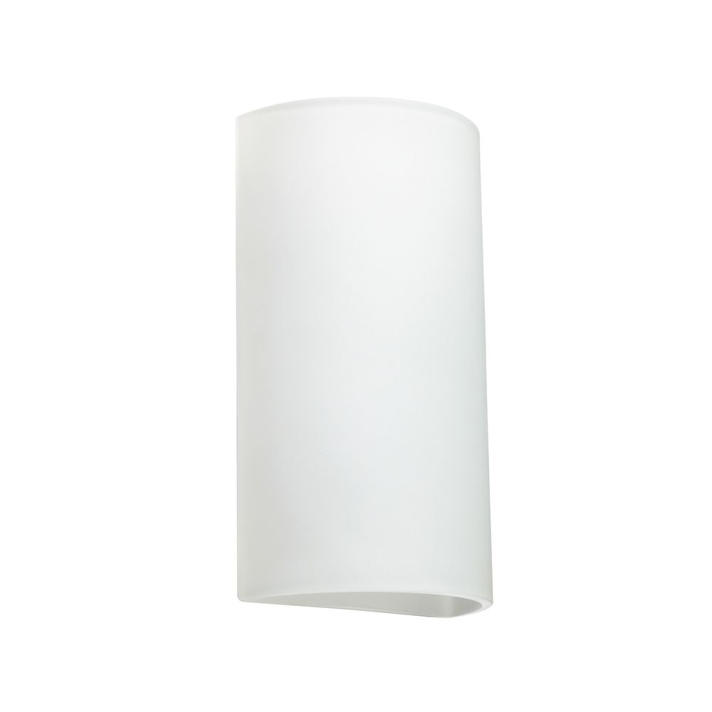 Sconce Wall Light with White Glass 118907 Destination Lighting