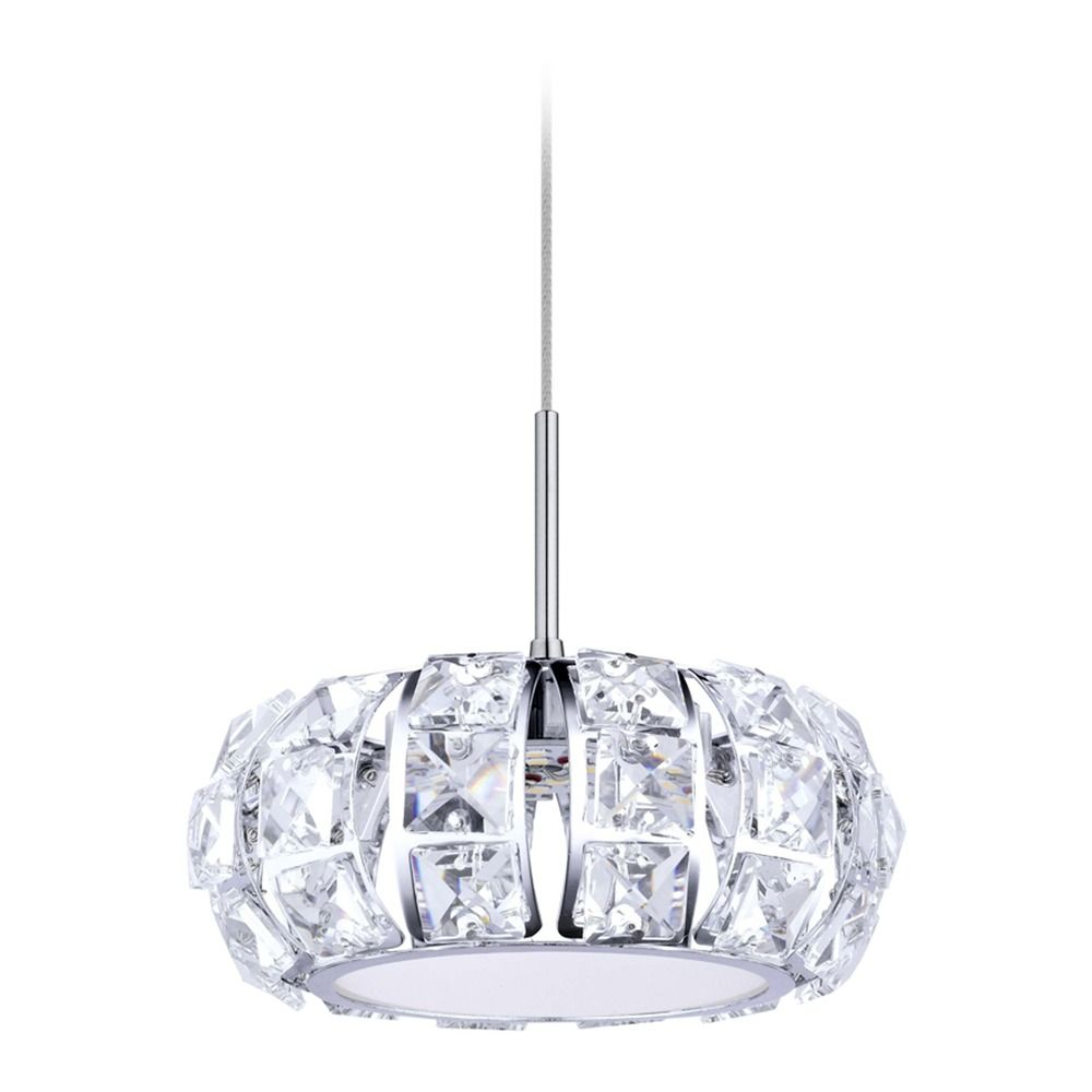 Eglo corliano chrome led mini pendant light with drum shade product image aloadofball Gallery