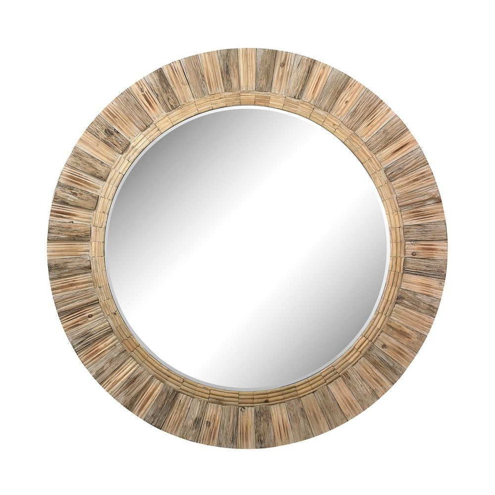 Oversized round wicker mirror 51 10163 destination for Round mirror