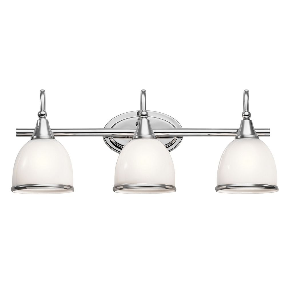 kichler bathroom lighting fixtures kichler lighting rory chrome bathroom light 45673ch 18959
