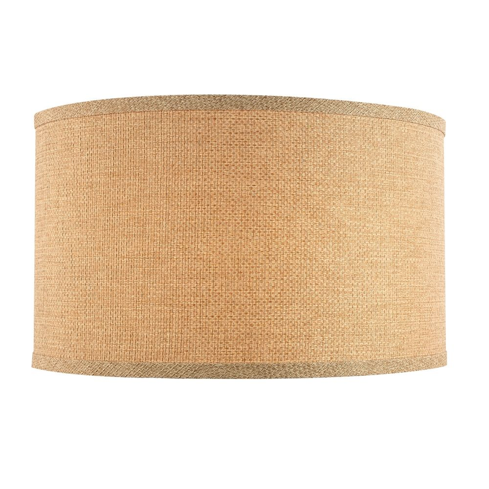 linen large drum lamp shade with spider assembly 17