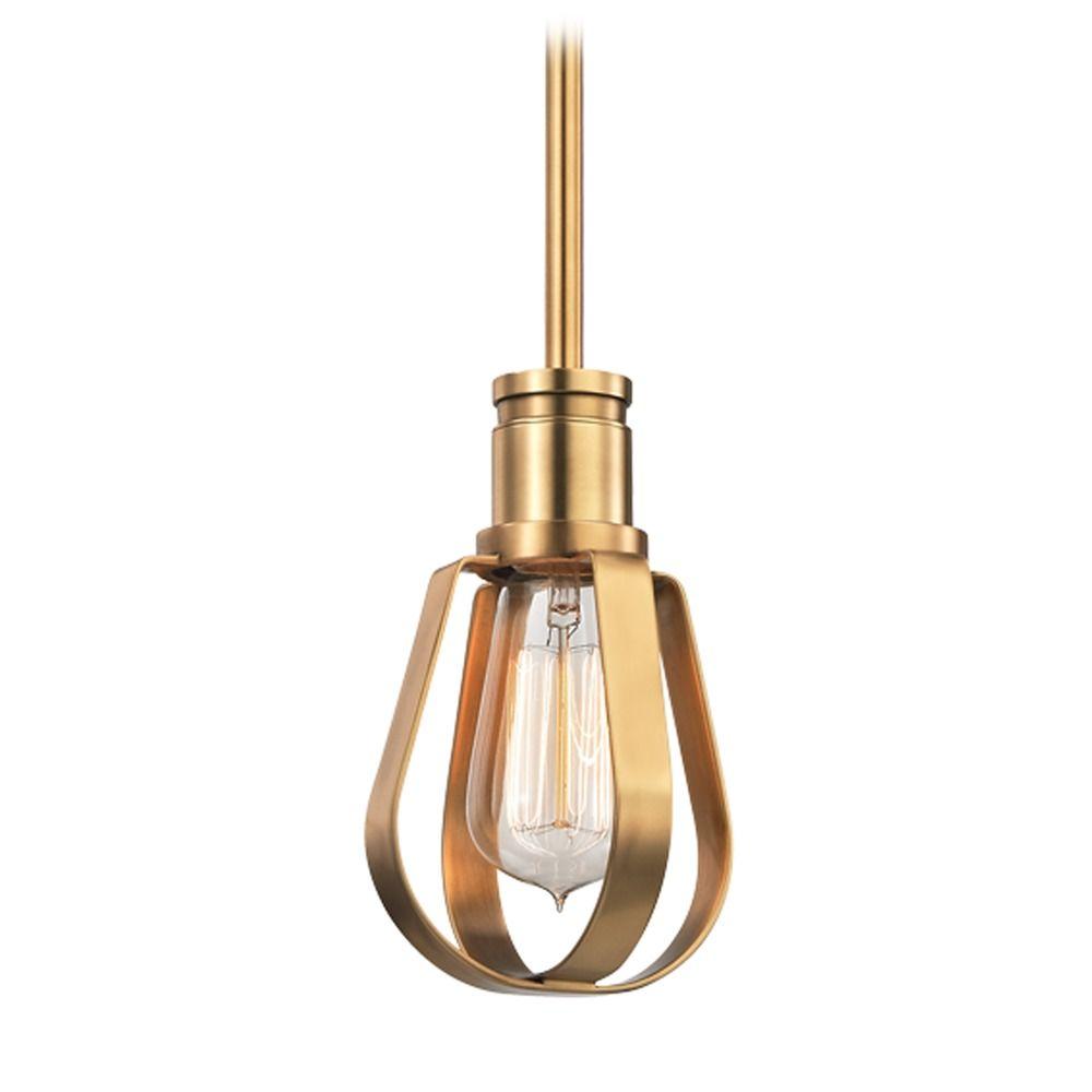 Hudson Valley Lighting Mini Pendant: Hudson Valley Lighting Red Hook Aged Brass Mini-Pendant