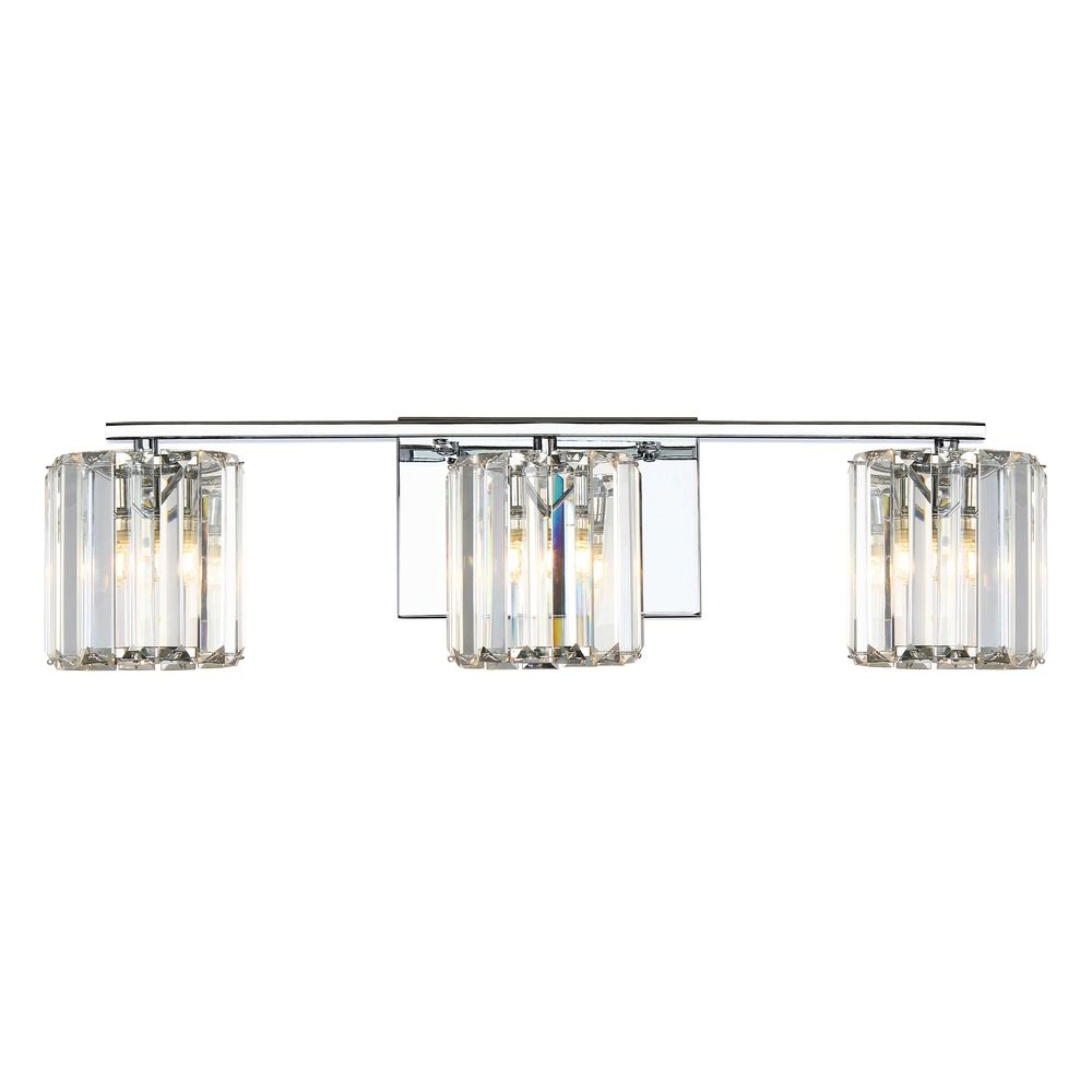 Quoizel Lighting Platinum Collection Divine Polished Chrome Bathroom Light Pcdv8603cled
