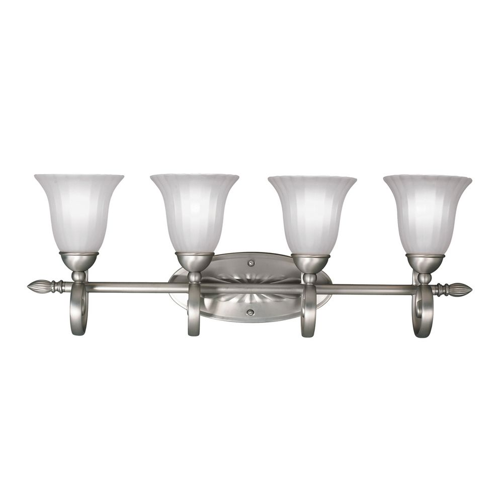 bathroom lighting brushed nickel finish kichler bathroom light in brushed nickel finish 5929ni 22181