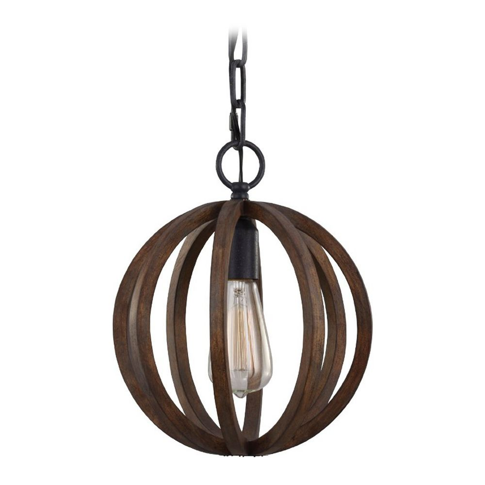 Feiss lighting allier weather oak wood antique forged iron mini product image aloadofball Gallery