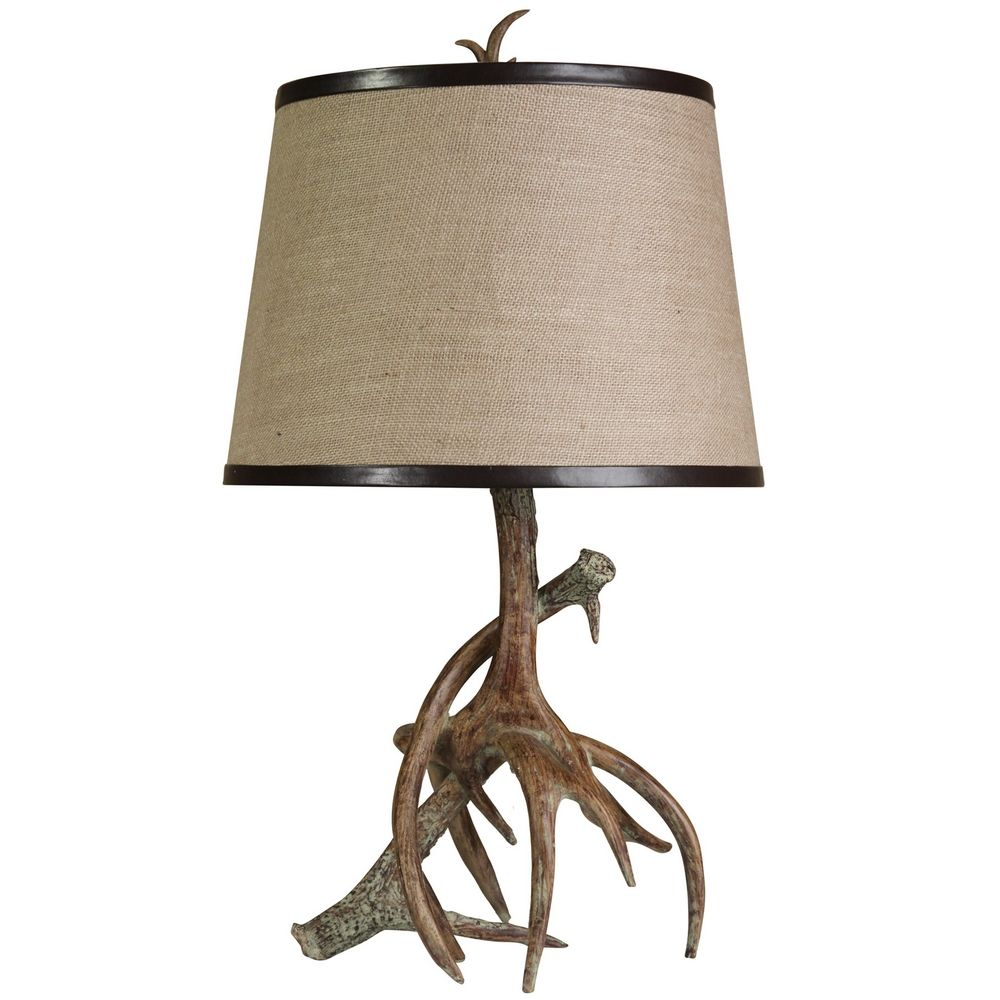 stylecraft rustic antler table lamp l33145ds