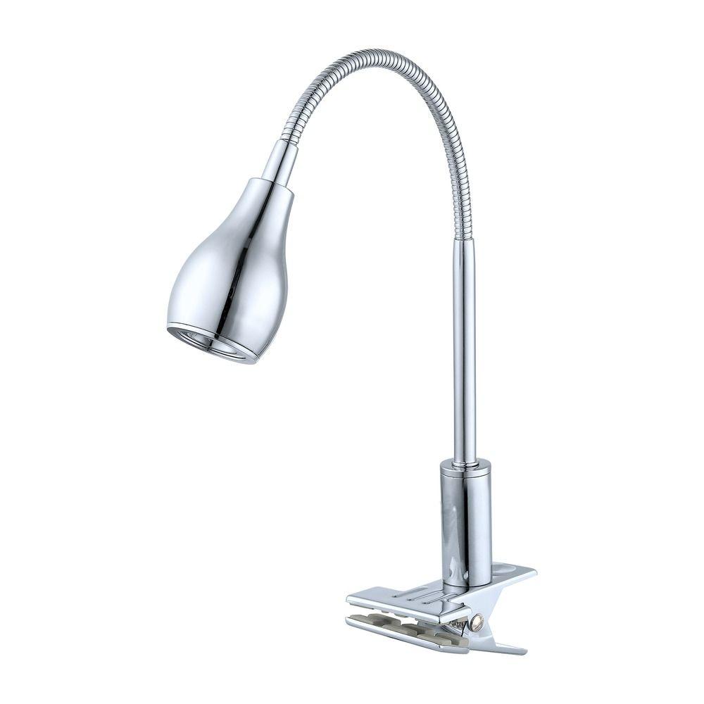 eglo naira chrome led clip on lamp 92276a destination lighting. Black Bedroom Furniture Sets. Home Design Ideas