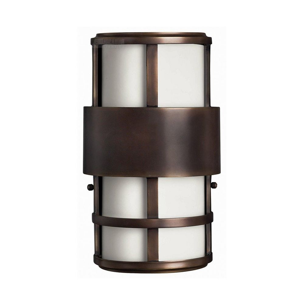 Modern LED Outdoor Wall Light With White Glass In Metro