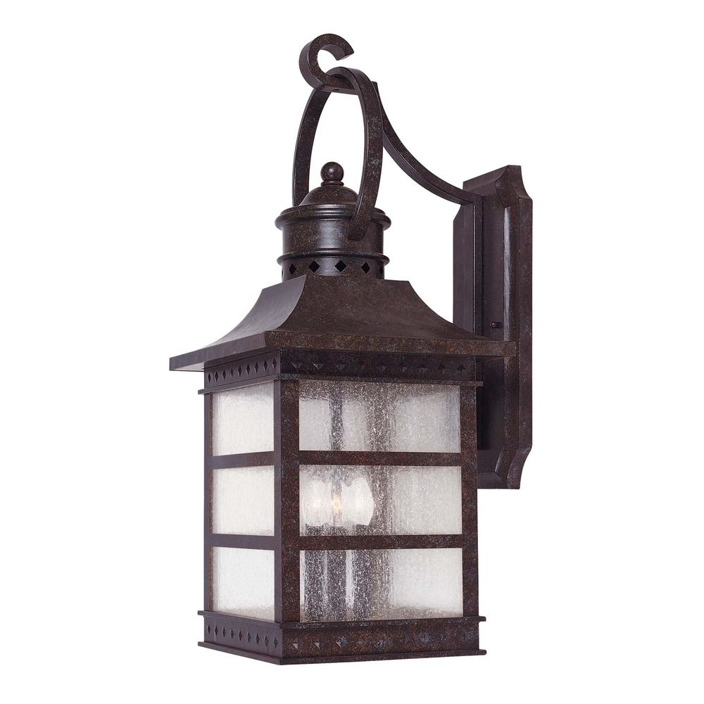 Exterior Lighting: Savoy House Rustic Bronze Outdoor Wall Light