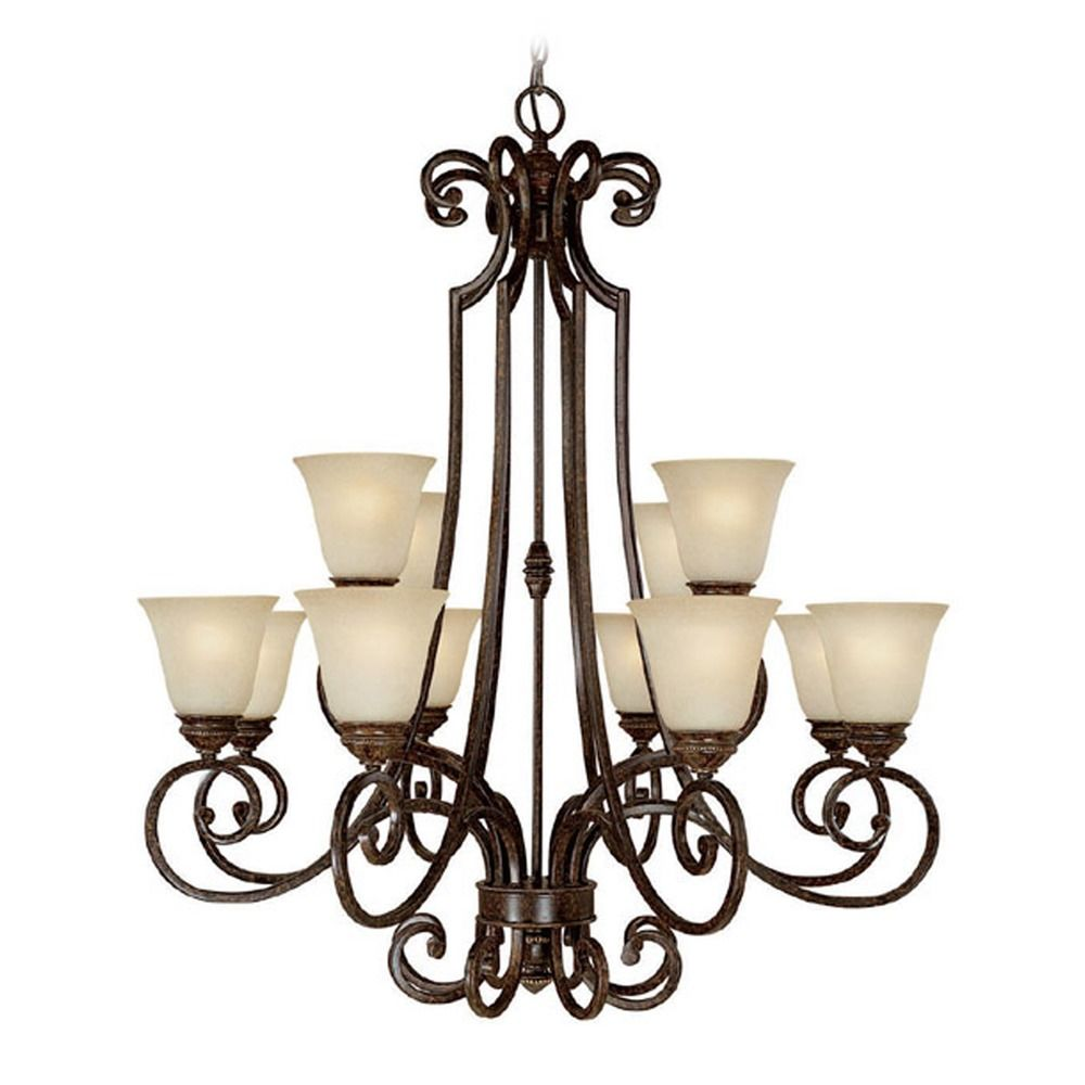 Capital Lighting Barclay Chesterfield Brown Chandelier