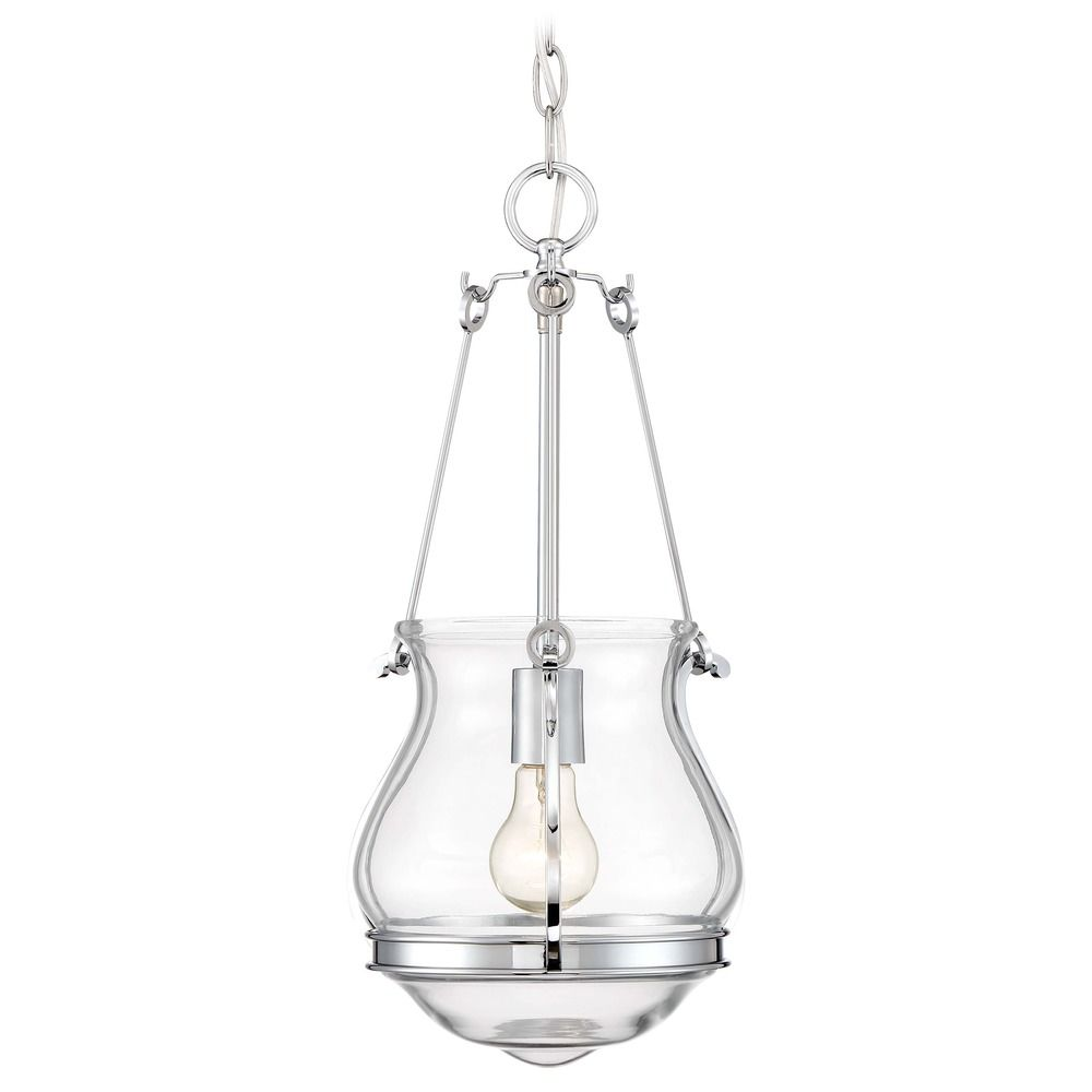 newest collection 46dd5 fe10d Minka Lavery Atrio Chrome Pendant Light with Urn Shade at Destination  Lighting
