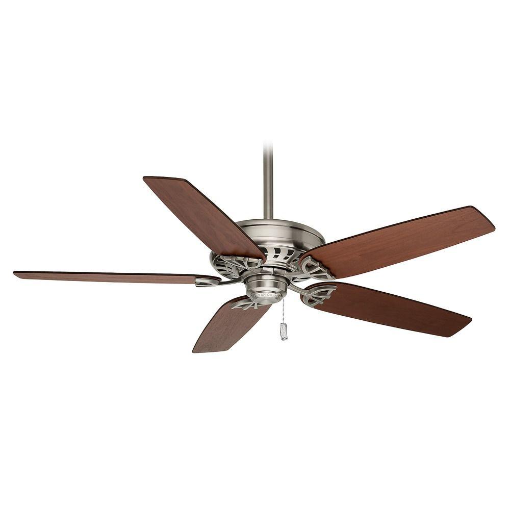 casablanca fan concentra brushed nickel ceiling fan without light. Black Bedroom Furniture Sets. Home Design Ideas