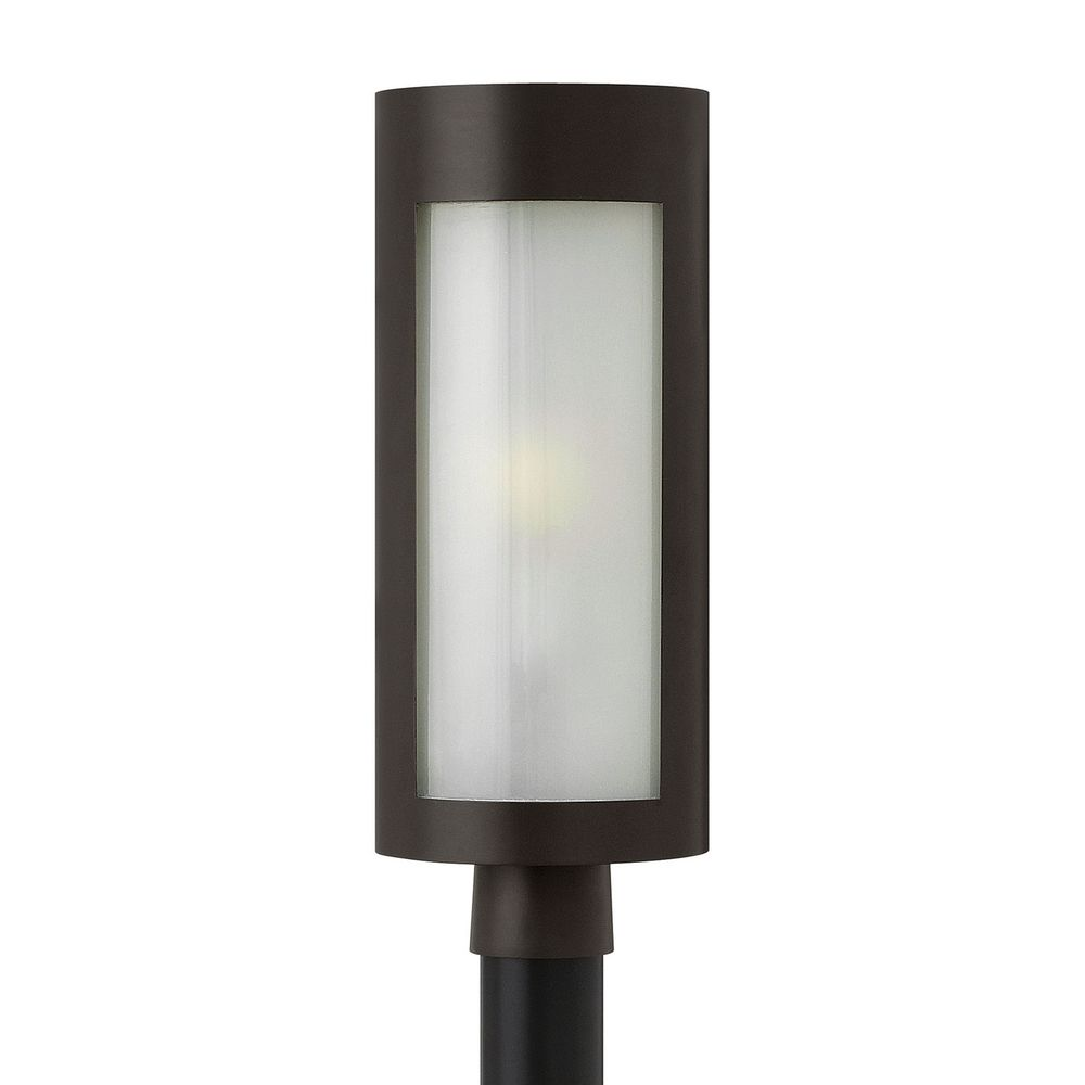 Modern post light with white glass in bronze finish 2021bz hinkley lighting modern post light with white glass in bronze finish 2021bz aloadofball Image collections
