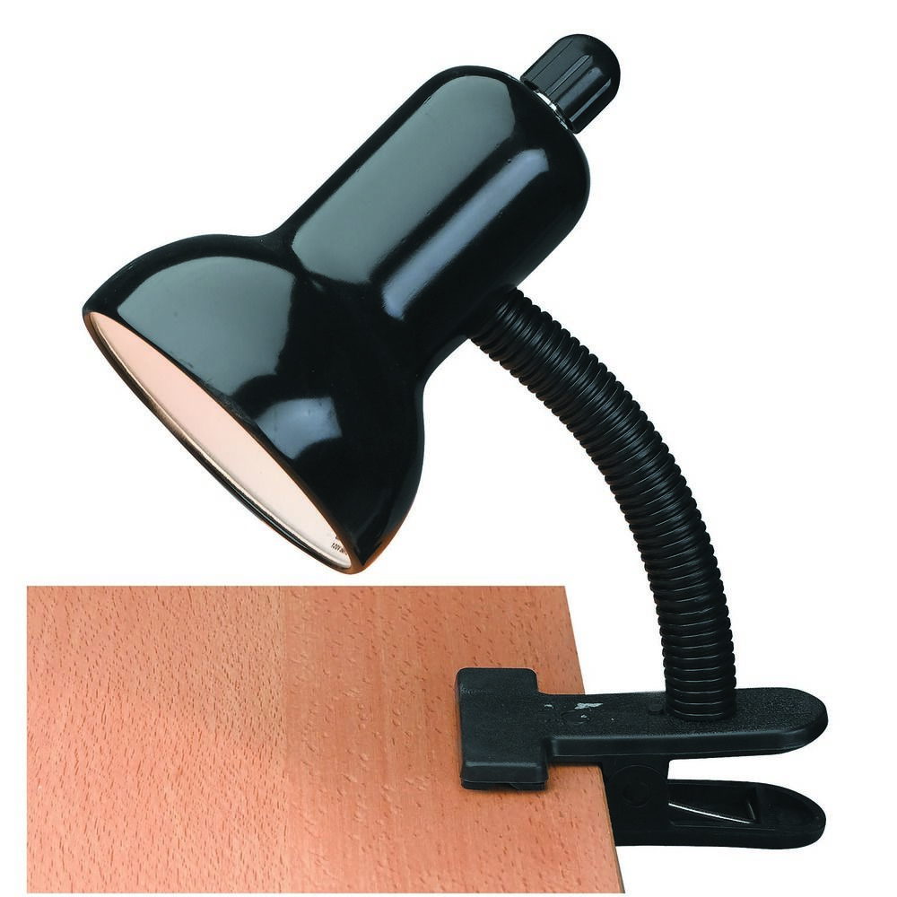 lite source lighting clip on clamp desk lamp lsf 111blk destination lighting. Black Bedroom Furniture Sets. Home Design Ideas
