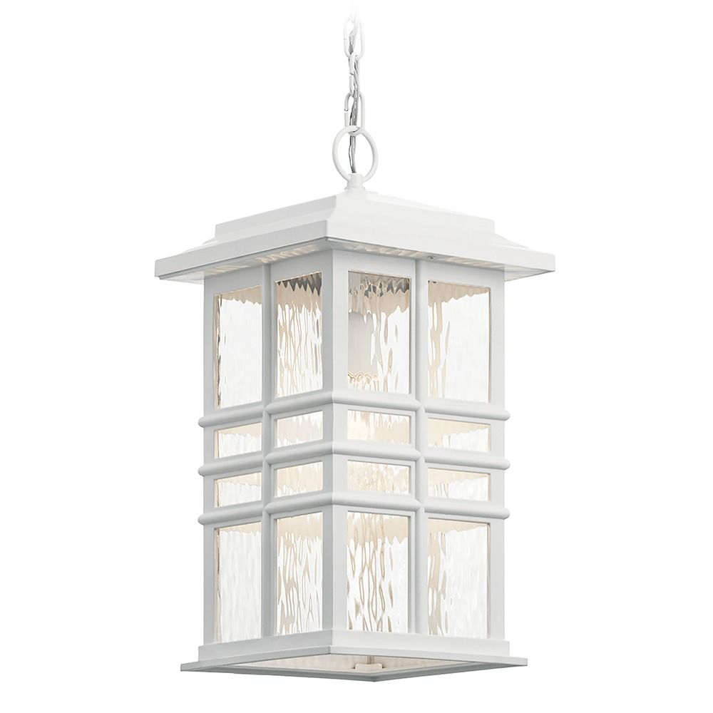 Kichler Lighting Beacon Square Textured White Outdoor Hanging Light At Destination
