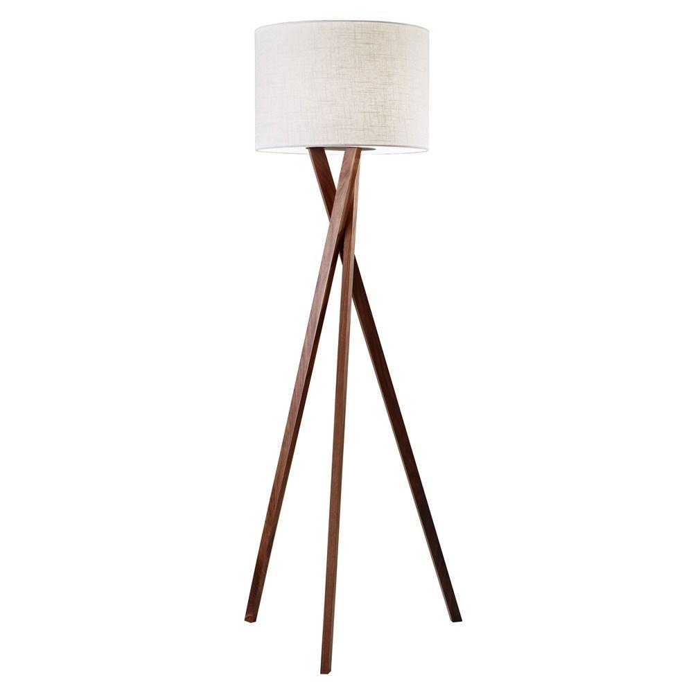 Mid Century Modern Floor Lamp Walnut