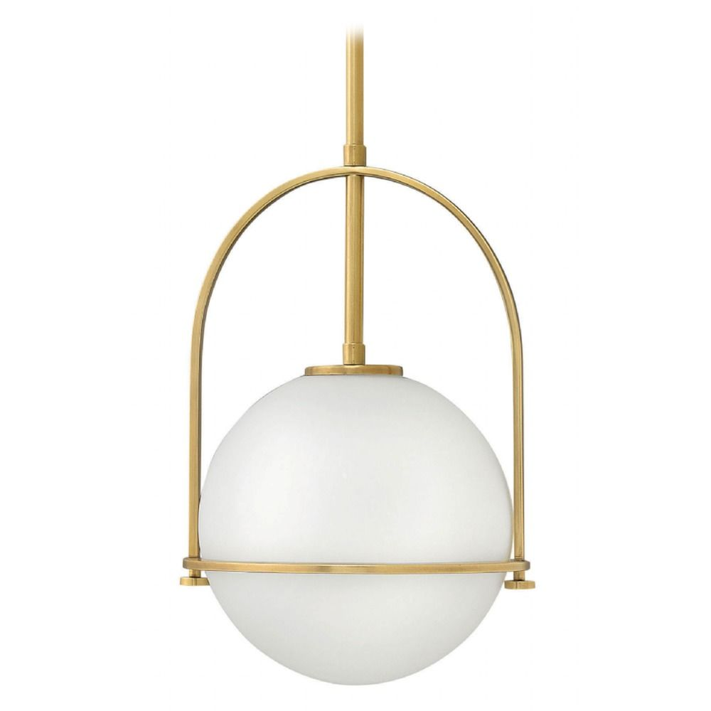 somerset heritage brass pendant light with globe shade