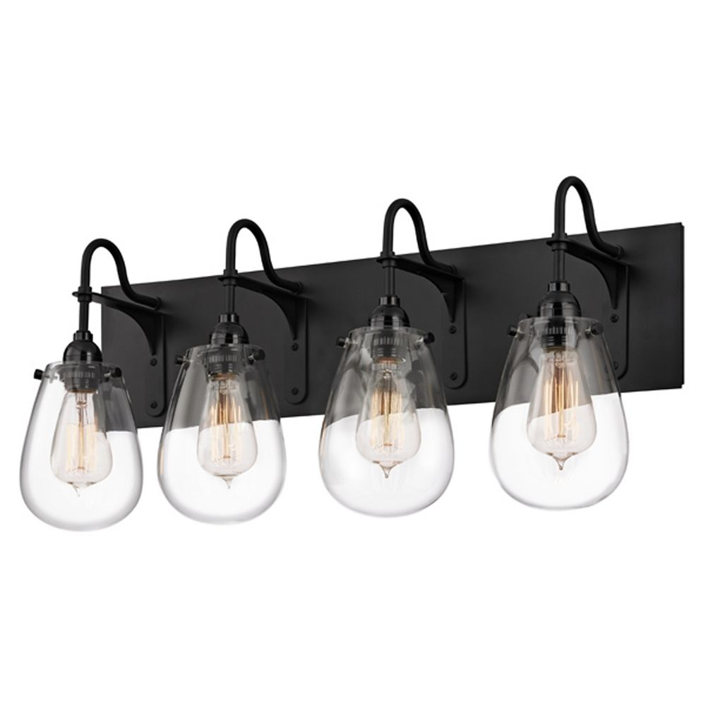Vanity Light Bar With Switch : Sonneman Lighting Chelsea Satin Black Bathroom Light 4289.25 Destination Lighting