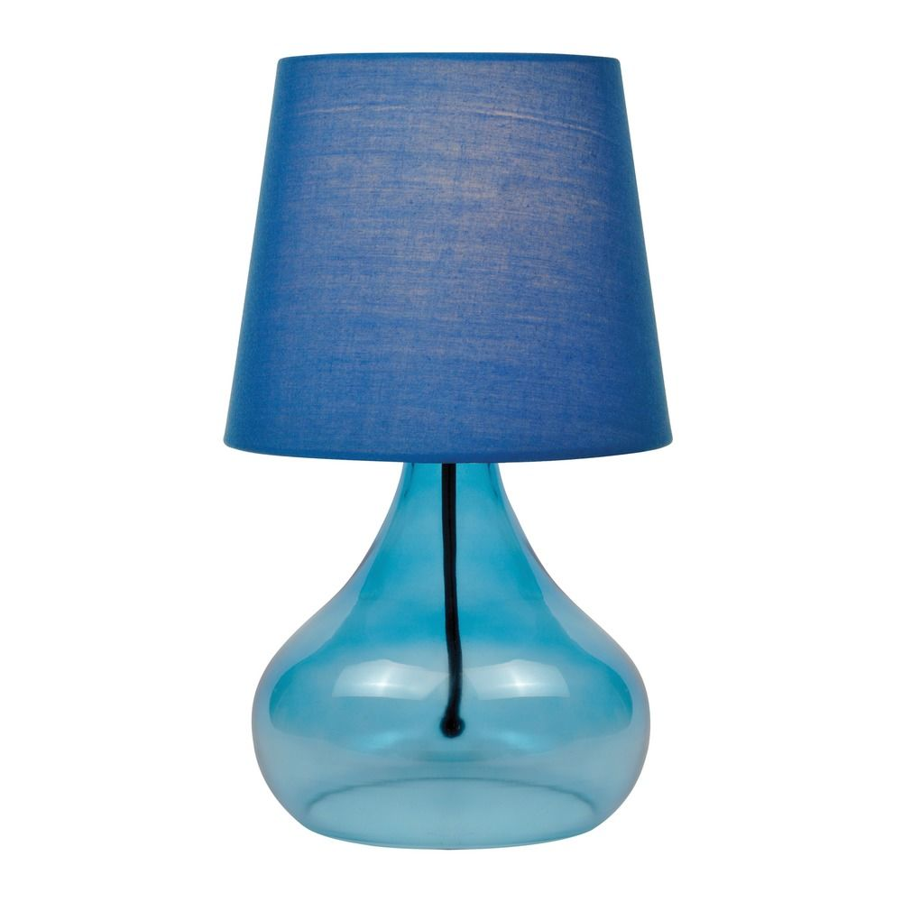 Lite Source Jamie Blue Table Lamp with Coolie Shade | LS ...