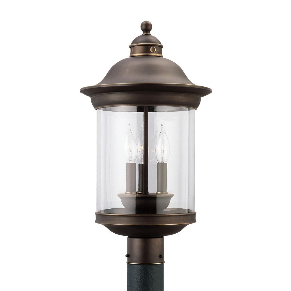 Bell Outdoor Post Lights: Sea Gull Lighting Hermitage Antique Bronze LED Post Light
