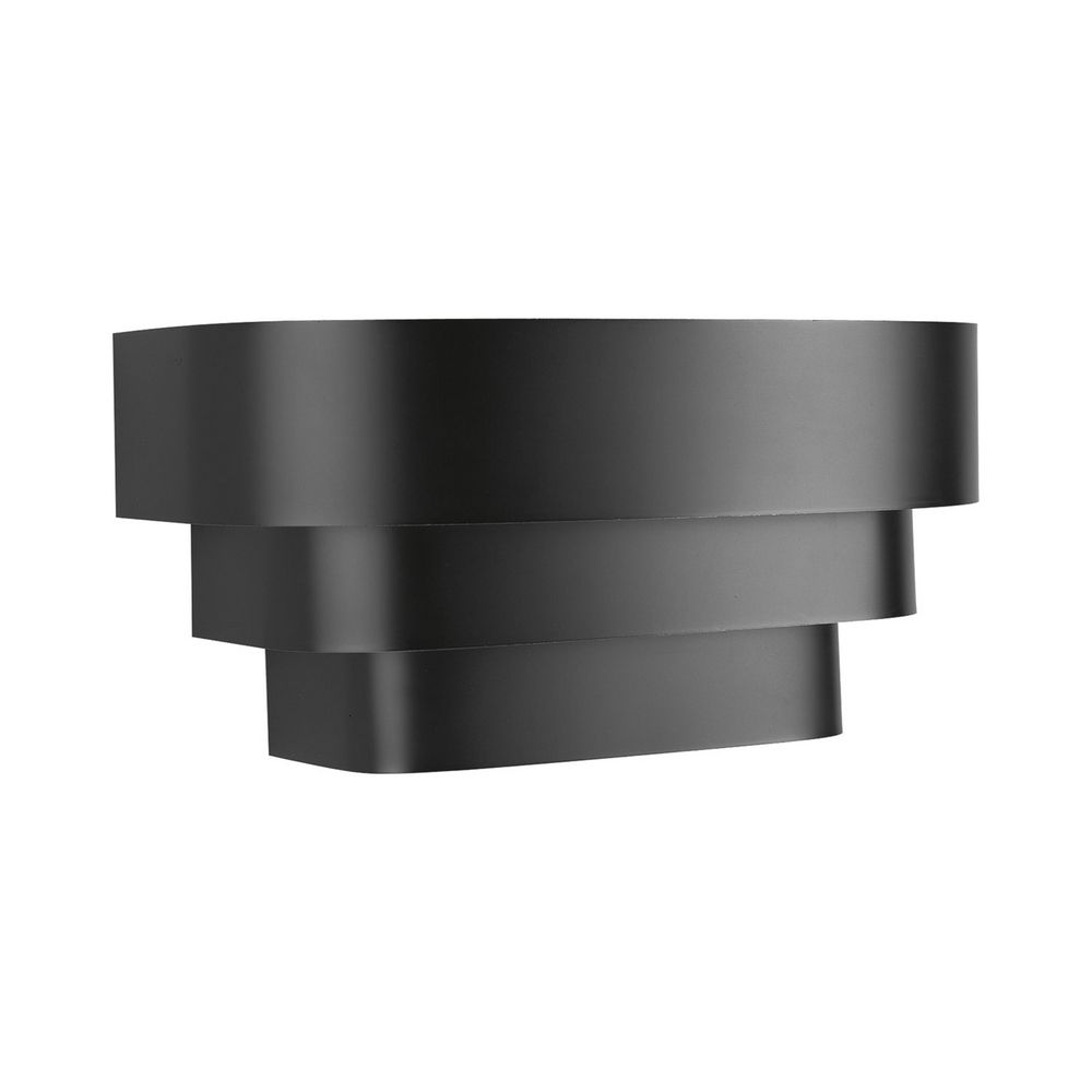 Progress Black Stepped Sconce Wall Light P7103 31 Destination