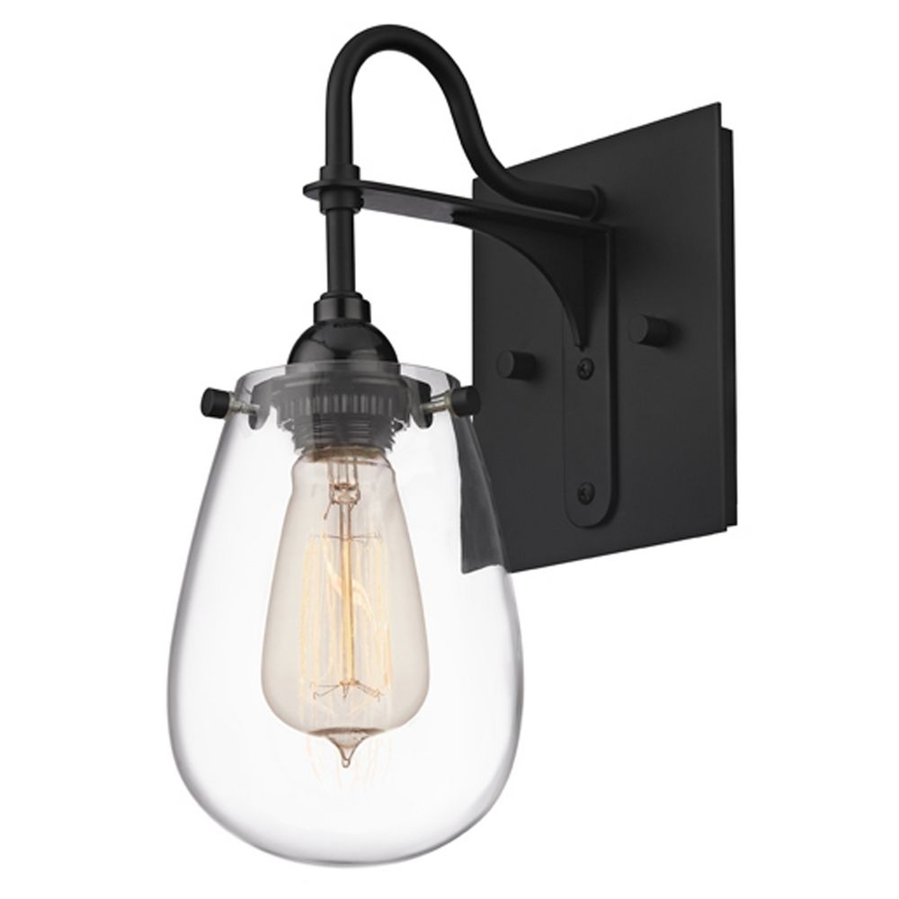 Industrial sconce black chelsea by sonneman lighting for Sonneman lighting